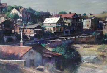 Jerome Arizona  24x48 Original Painting - Fil Mottola