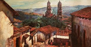Untitled Landscape 35x59  Huge Original Painting - Fil Mottola