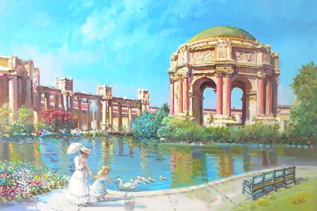 Palace of Fine Arts San Francisco 24x36 Original Painting by Fil Mottola