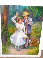 Untitled Nostalgic Couple 40x30 Huge Original Painting by Fil Mottola - 1