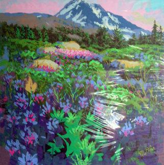 Mountain View 24x30 Newspaper Original Painting - Fil Mottola