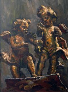 Angels 16x12 Original Painting - Fil Mottola