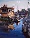 Untitled (California Harbor) 1980 32x28 Original Painting by Fil Mottola - 0