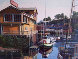 Untitled (California Harbor) 1980 32x28 Original Painting by Fil Mottola - 1