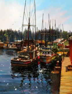Morro Bay, California II 11x14 Original Painting - Fil Mottola