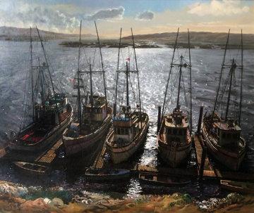Sparkling Waters 34x40 Original Painting - Fil Mottola