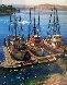 Fishing Boats At Morrow Bay, California  30x25 Original Painting by Fil Mottola - 0