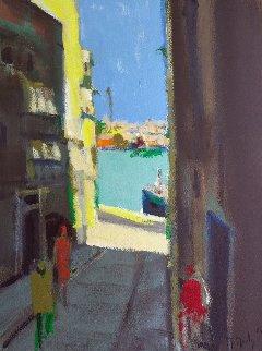 Rue De Chypre 1984 30x22 Original Painting - Marcel Mouly