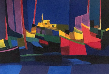 Les Paquebots Limited Edition Print - Marcel Mouly