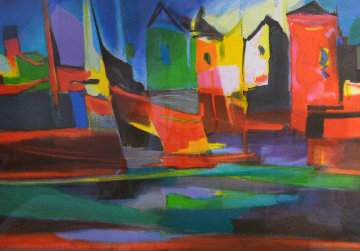 Port Au Moulin Rougue 2006 Limited Edition Print by Marcel Mouly