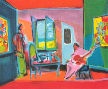 La Musicienne 1996 Limited Edition Print - Marcel Mouly