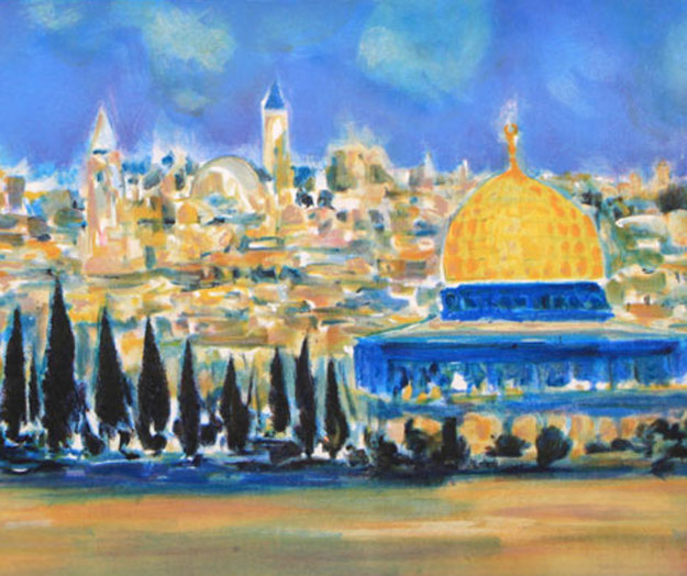 Jerusalem 2004 Limited Edition Print by Marcel Mouly
