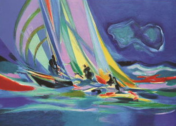 Le Spinnaker Bayadere 2005 Limited Edition Print - Marcel Mouly