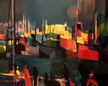 Le Port Aux Bateaux Rouges 1992 Limited Edition Print by Marcel Mouly