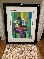 Compotier Blanc a Tableau Noir Limited Edition Print by Marcel Mouly - 1
