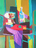 Compotier Blanc a Tableau Noir Limited Edition Print by Marcel Mouly - 0