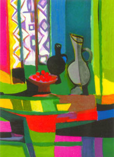 Crises Au Rideau African  Limited Edition Print by Marcel Mouly