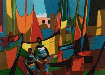 Les Marins Grec 1994 Limited Edition Print - Marcel Mouly