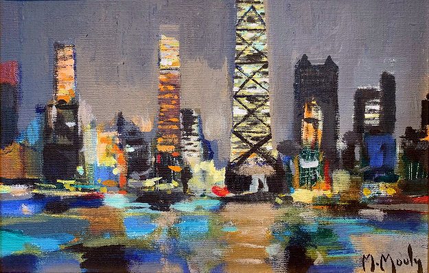 Chicago Le Soir 1994 16x20 by Marcel Mouly