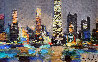 Chicago Le Soir 1994 16x20 Original Painting by Marcel Mouly - 0