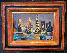 Chicago Le Soir 1994 16x20 Original Painting by Marcel Mouly - 1