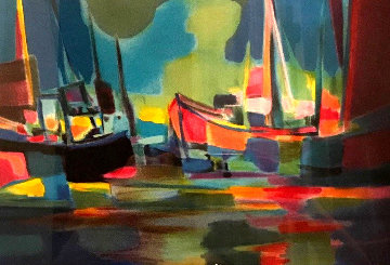 Les Cargos 1996 Limited Edition Print - Marcel Mouly