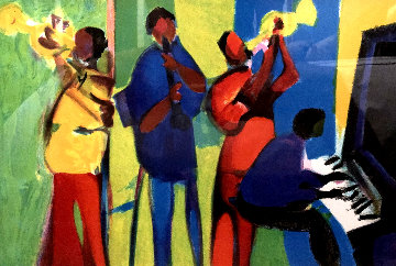 Guimtette Jazz 2004 Limited Edition Print - Marcel Mouly