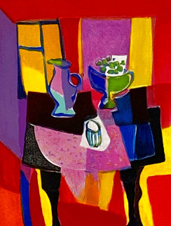 La Nappe Rose Ornee 2000 Limited Edition Print - Marcel Mouly