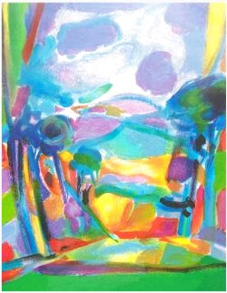 Les Nuages Mauves t(he Mauve Clouds) HS Limited Edition Print - Marcel Mouly