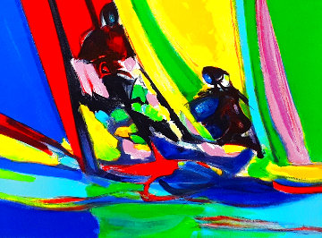 Yachtmen Voile Juane 2005 Limited Edition Print - Marcel Mouly