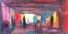 Dans Le Souk 1987 47x23 Original Painting by Marcel Mouly - 0
