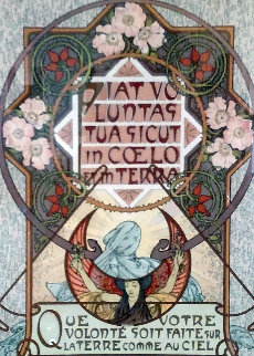 Le Pater - On the Earth As It is in the Heavens  1899 Limited Edition Print - Alphonse Mucha