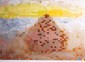 Haystack, After Monet #3  2001 Limited Edition Print - Vik Muniz