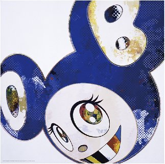 And Then X 6 (Blue: The Polke Method) 2016 Limited Edition Print by Takashi Murakami
