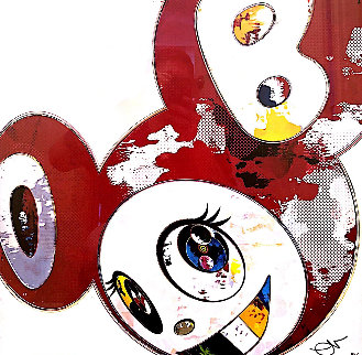 And Then X 6, Hello (Red: The Polke Method) 2013 Limited Edition Print - Takashi Murakami