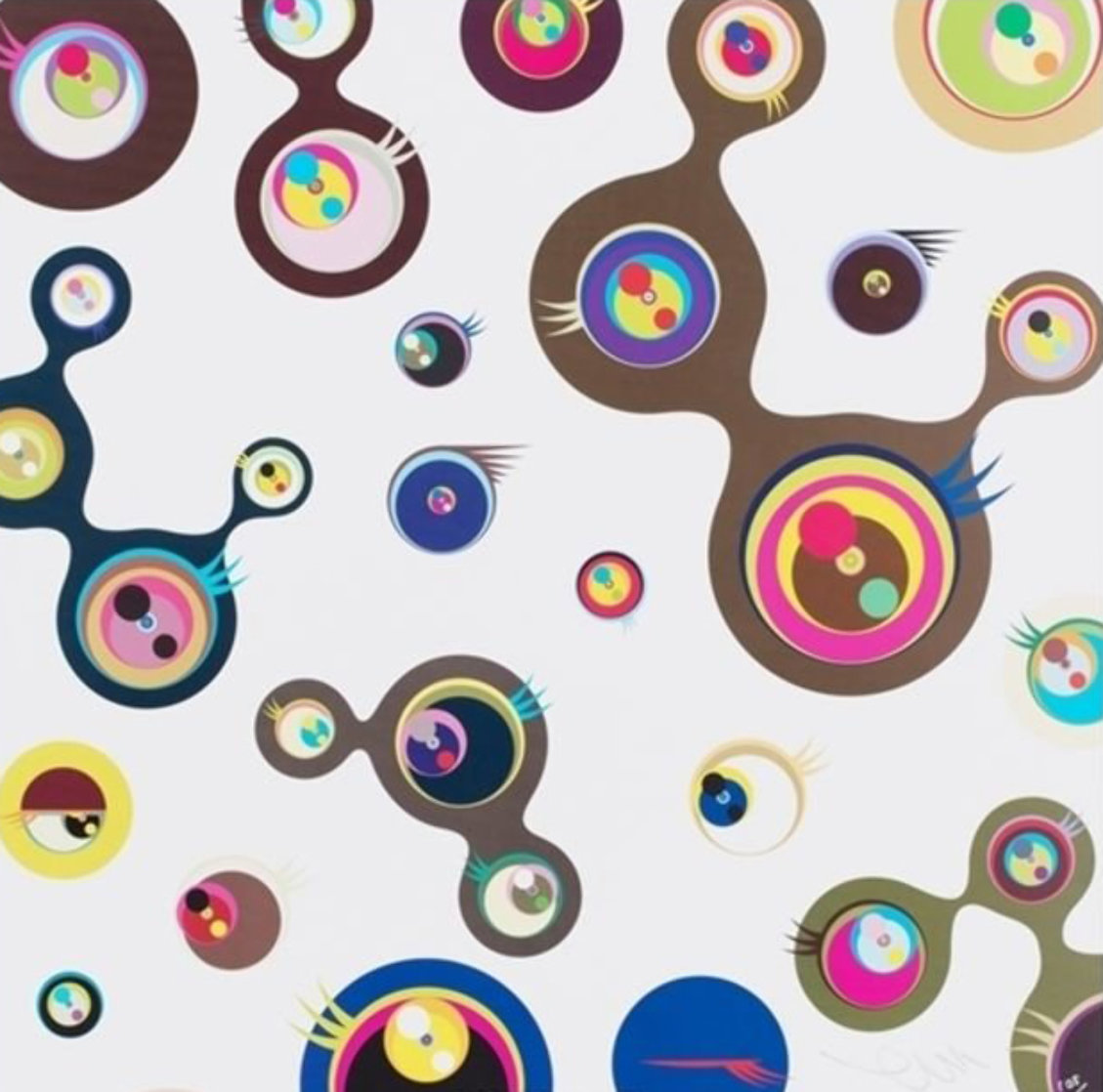 Jellyfish Eyes - White 3 2006 Limited Edition Print by Takashi Murakami
