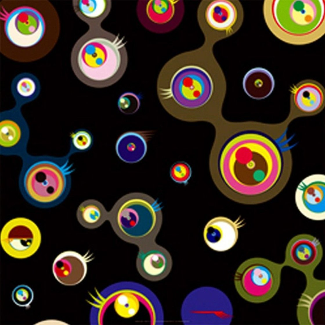 Jellyfish Eyes - Black 3 2004 Limited Edition Print by Takashi Murakami