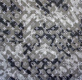 LV Mongramouflage Denim 2008 Limited Edition Print - Takashi Murakami