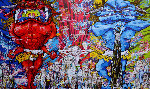Red Demon And Blue Demon With 48 Arhats 2013 Limited Edition Print - Takashi Murakami