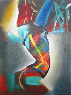 Back Light  2004 40x30 - Huge Original Painting - Elaine Murphy