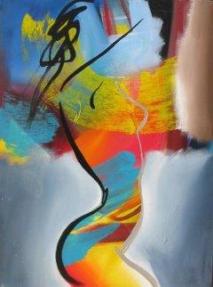 Into the Blue 2004 40x30 Super Huge  Original Painting - Elaine Murphy
