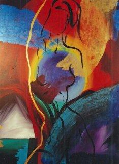 Eclipse 2004 40x50 Super Huge Original Painting - Elaine Murphy