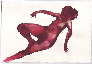 Little Brown Goddess Watercolor 2001 5x7 Watercolor - Wangechi Mutu