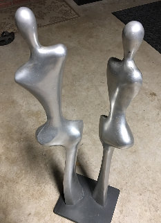 Untitled Aluminum Unique Sculpture 1976 34 in Sculpture - James C. Myford