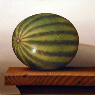 Nu Realism Still Life 36x36 (Watermelon) Original Painting - Mario Myung