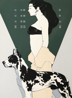 Great Dane 1981 Limited Edition Print - Patrick Nagel