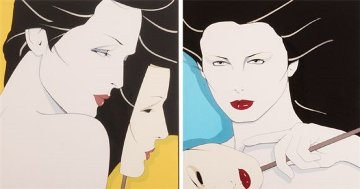 Diptych 1980 Limited Edition Print by Patrick Nagel