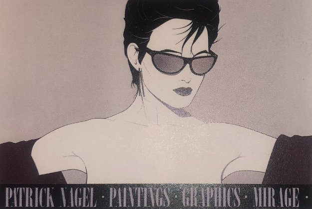 Sunglasses Silver 1983 by Patrick Nagel