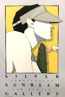 Silver Sunbeam Gallery Poster 1979 HS Limited Edition Print by Patrick Nagel
