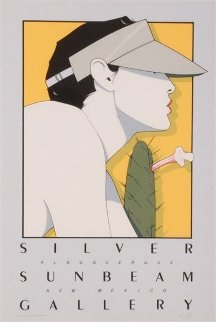Silver Sunbeam Gallery Poster 1979 HS Limited Edition Print - Patrick Nagel